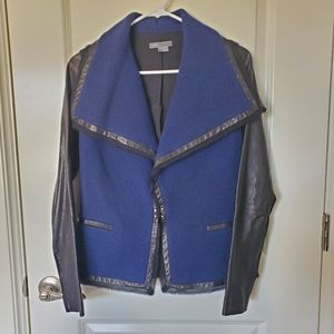 Vince lambskin leather and wool jacket